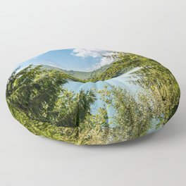 Carpathian Mountains View In Romania, Summer Landscape, Transylvania Mountains, Forests Of Romania Floor Pillow