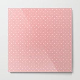 Two Tone Bright Blush Pink Mini Love Hearts Metal Print