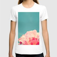 shabby chic T-shirts featuring Shabby Chic Rose Photograph by Scarlett Ella