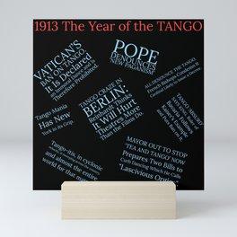 1913: The Year of the Scandalous Tango! Mini Art Print