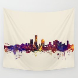 Milwaukee Wisconsin Skyline Wall Tapestry