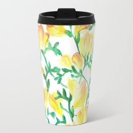Yellow freesia Travel Mug