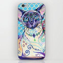 Orient - Siamese Cat Art iPhone Skin