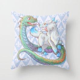 Baby Fenrir and Jörmungandr Throw Pillow