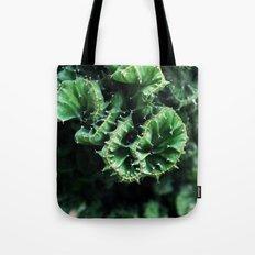 Emerald green Cactus Botanical Photography, Nature, Macro, Tote Bag