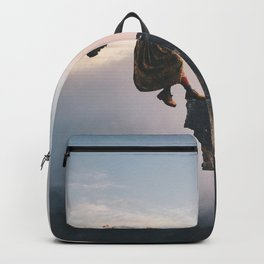 Up in the Clouds-Surreal Levitation Off a Cliff Backpack
