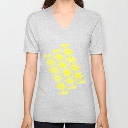 Forever Yellow Unicorn Unisex V-Neck