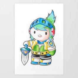 Hello Manga - Riven Art Print