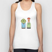 muppets Tank Tops featuring Bunsen & Beaker – The Muppets by Big Purple Glasses