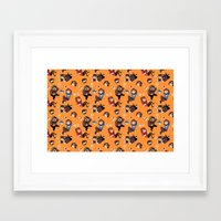 game grumps Framed Art Prints featuring Game Grumps Pattern by SIINS