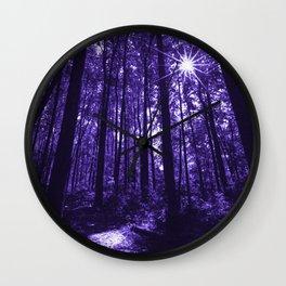 Shenandoah Ultra-Violet Wall Clock