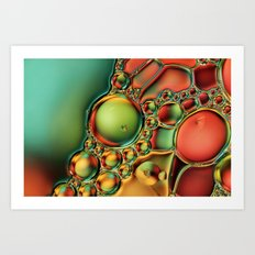 Bubble Jewels Art Print
