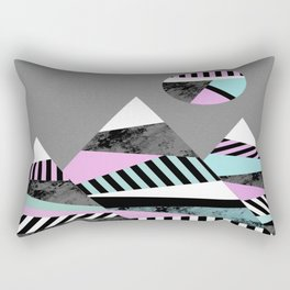 Crazy Mountains - Abstract, Stripes, block colour and marble effect Rectangular Pillow
