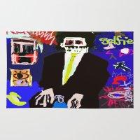 basquiat Area & Throw Rugs featuring My Basquiat by Robert Morris