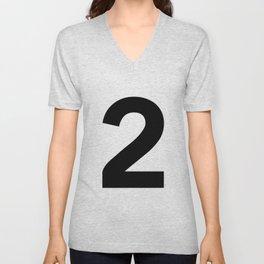 Number 2 (Black & White) Unisex V-Neck