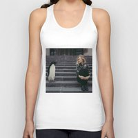 pun Tank Tops featuring Penguin Pun by Apt108
