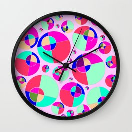 Bubble pink Wall Clock