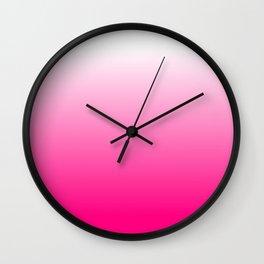 Hot Pink Ombre Wall Clock