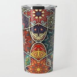 Vintage patchwork with floral mandala elements Travel Mug