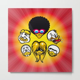 Duck Heads Metal Print