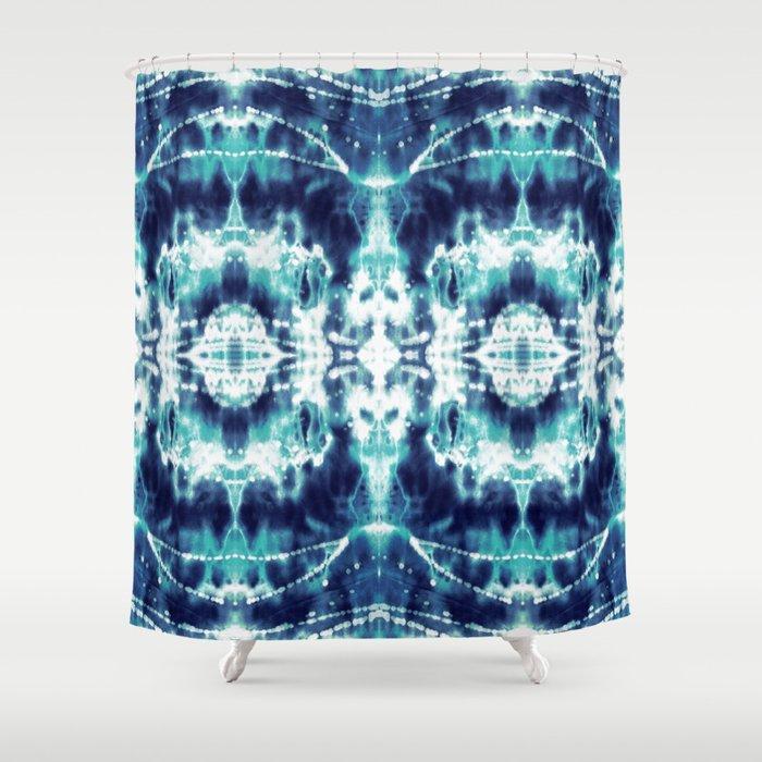 Celestial Nouveau Tie Dye Shower Curtain
