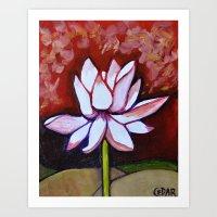 Stately Lotus Art Print