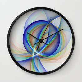 Colorful Design, Modern Fractal Art Wall Clock