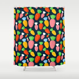Carrots not only for bunnies - seamless pattern Shower Curtain
