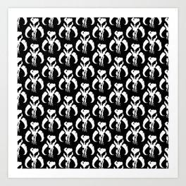 Mythosaur Skulls in Black and White Art Print