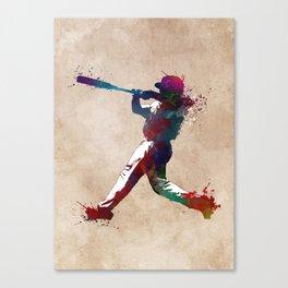 Baseball player 10 #baseball #sport Canvas Print