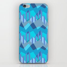 ZigZag All Day - Blue iPhone Skin