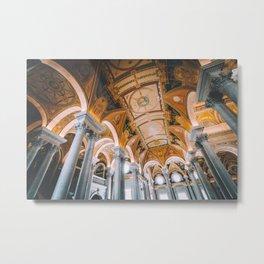 Hall of Symbols - Library of Congress Metal Print