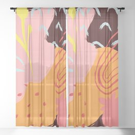 Abstract Pattern Modern Art 11 Sheer Curtain
