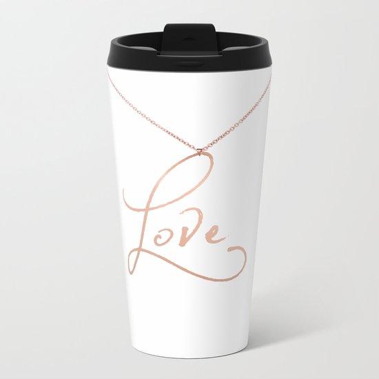 Love Pendant Metal Travel Mug