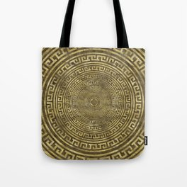 Circular Greek Meander Pattern - Greek Key Ornament Tote Bag