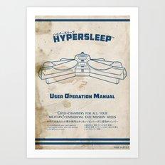 Hypersleep Chamber User Manual Art Print