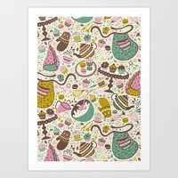 cupcakes Art Prints featuring Cupcakes  by Anna Deegan