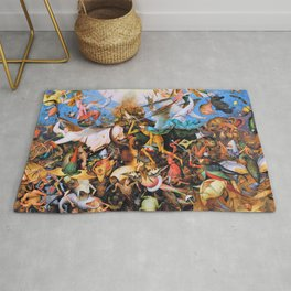 Pieter Bruegel - The Fall Of The Rebel Angels - Digital Remastered Edition Rug