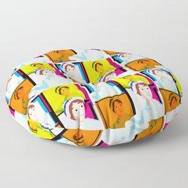 JANE AUSTEN - ENGLISH NOVELIST - COLOURFUL POP ART STYLE ILLUST Floor Pillow