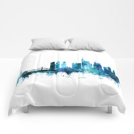 Frankfurt Germany Skyline Comforters