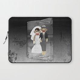 Sock Monkey Wedding Laptop Sleeve