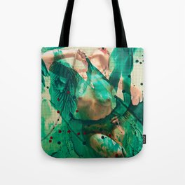 Smaragd shower - nude in bathroom Tote Bag