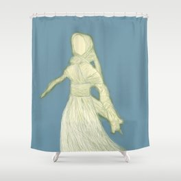 Corn Husk Doll Shower Curtain