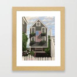 Flag House Framed Art Print