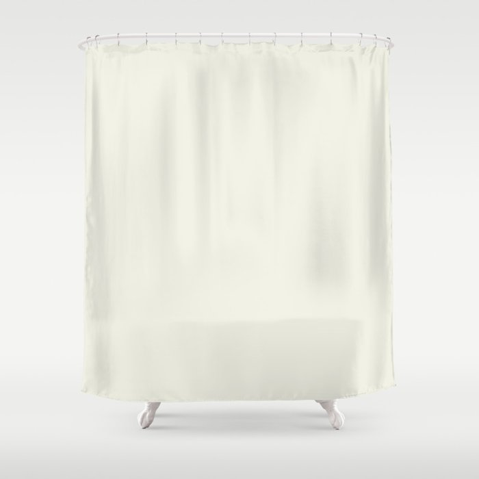Simply Cream Shower Curtain