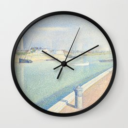 Georges Seurat - The Channel of Gravelines Wall Clock