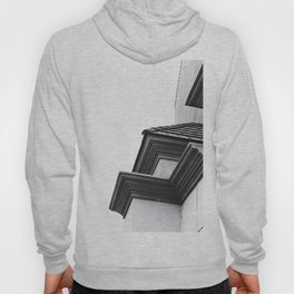 buildings in the city in black and white Hoody