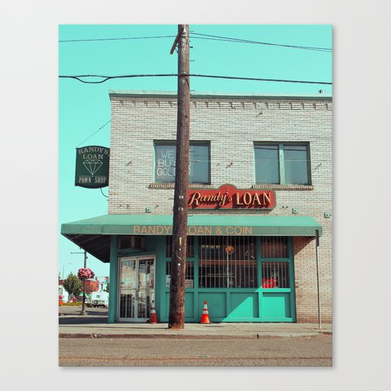 Corner pawnshop Canvas Print