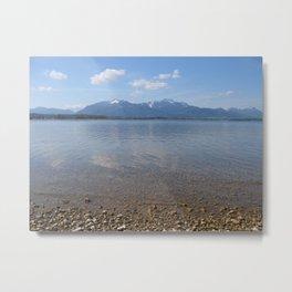 Chiemsee Mirror Metal Print