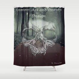 Hallowed Screams Shower Curtain